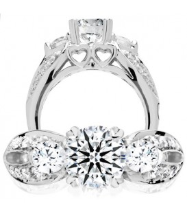 1.74 Carat Round Brilliant Eternitymark Diamond Ring 18Kt White Gold