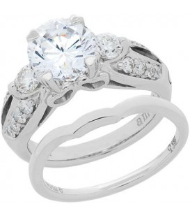 1.74 Carat Eternitymark Diamond Bridal Set 18Kt White Gold