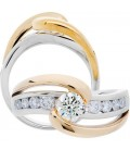 1.01 Carat Round Brilliant Diamond Ring 18Kt Two-Tone Gold