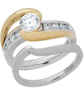 1.01 Carat Eternitymark Diamond Bridal Set 18Kt Two-Tone Gold