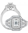 1.01 Carat Round Brilliant Diamond Ring 18Kt White Gold
