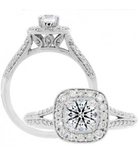 More about 0.88 Carat Round Brilliant Eternitymark Diamond Ring 18Kt White Gold