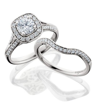 Rings - 0.70 Carat Eternitymark Diamond Bridal Set 18Kt White Gold
