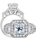 1.64 Carat Princess Cut Eternitymark Diamond Ring 18Kt White Gold