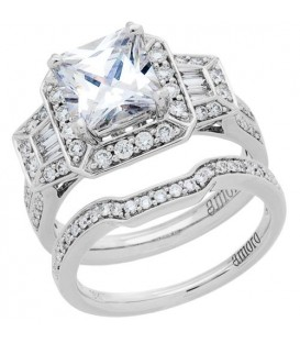 Rings - 1.64 Carat Eternitymark Diamond Bridal Set 18Kt White Gold