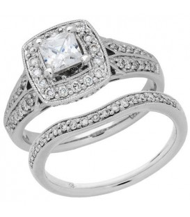 More about 1.01 Carat Eternitymark Diamond Bridal Set 18Kt White Gold