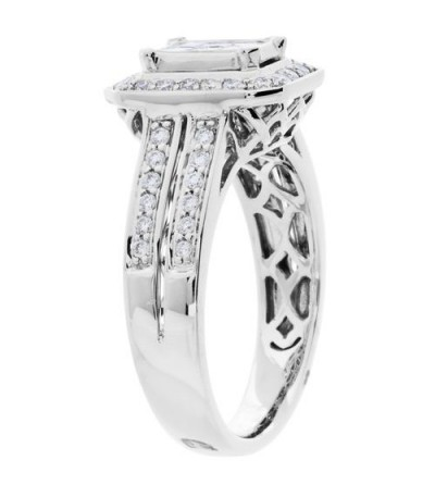 0.76 Carat Multiple Princess Cut Diamond Ring in 18Kt White Gold