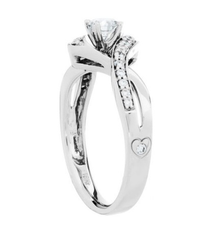 0.46 Carat Round Brilliant Diamond Ring 18Kt White Gold