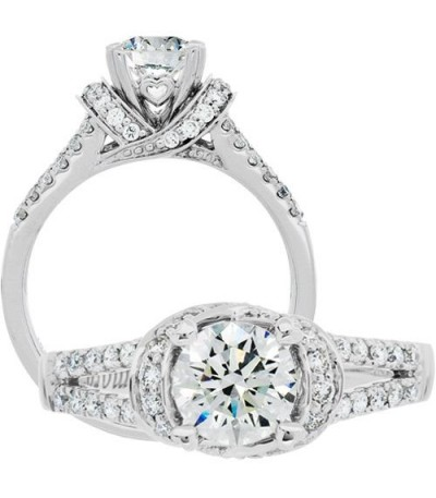 Rings - 1.14 Carat Round Brilliant Diamond Ring 18Kt White Gold