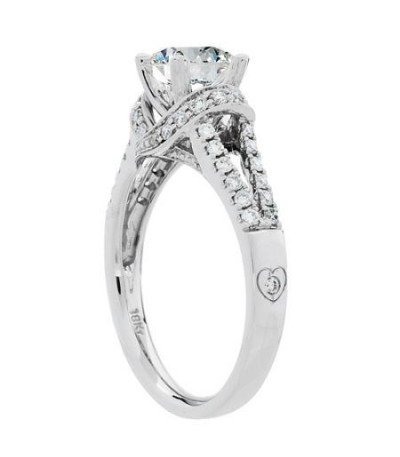1.14 Carat Round Brilliant Diamond Ring 18Kt White Gold