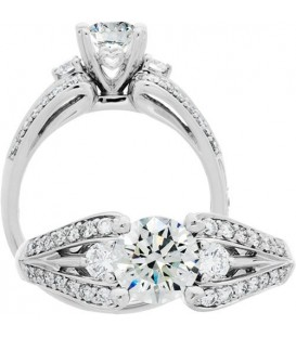More about 1.13 Carat Round Brilliant Diamond Ring 18Kt White Gold