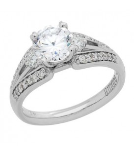 1.09 Carat Round Brilliant Eternitymark Diamond Ring 18Kt White Gold
