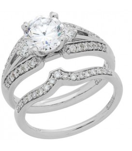 Rings - 1.09 Carat Eternitymark Diamond Bridal Set 18Kt White Gold