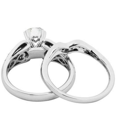 1.19 Carat Eternitymark Diamond Bridal Set 18Kt White Gold