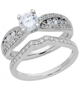 More about 1.42 Carat Eternitymark Diamond Bridal Set 18Kt White Gold