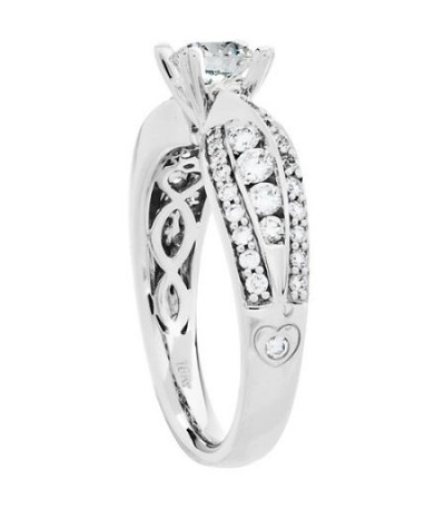 Rings - 1.42 Carat Eternitymark Diamond Bridal Set 18Kt White Gold
