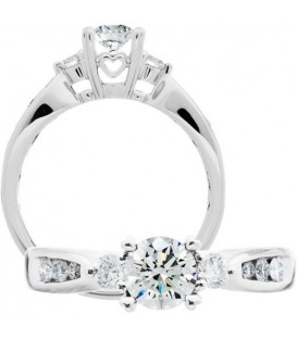 More about 0.76 Carat Round Brilliant Diamond Ring 18Kt White Gold