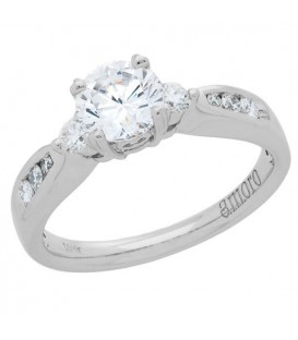 0.73 Carat Round Brilliant Eternitymark Diamond Ring 18Kt White Gold