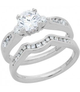 Rings - 0.73 Carat Eternitymark Diamond Bridal Set 18Kt White Gold