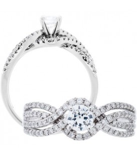 More about 0.71 Carat Round Brilliant Diamond Ring 18Kt White Gold