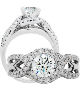 More about 1.54 Carat Round Brilliant Diamond Ring 18Kt White Gold
