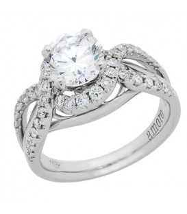 1.54 Carat Round Brilliant Diamond Ring 18Kt White Gold