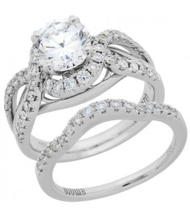 Rings - 1.56 Carat Eternitymark Diamond Bridal Set 18Kt White Gold