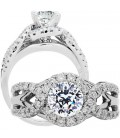 1.50 Carat Round Brilliant Pristine Hearts Diamond Ring 18Kt White Gold