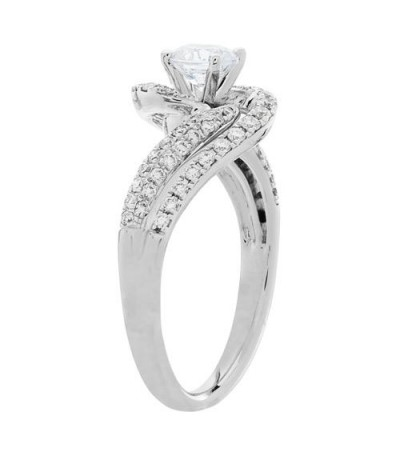 1.05 Carat Round Brilliant Diamond Ring 18Kt White Gold