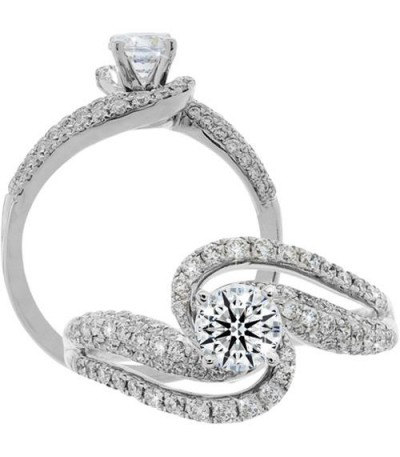 Rings - 1.05 Carat Round Brilliant Eternitymark Diamond Ring 18Kt White Gold