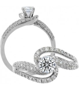 More about 1.05 Carat Round Brilliant Eternitymark Diamond Ring 18Kt White Gold