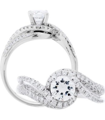 Rings - 1.34 Carat Round Brilliant Diamond Ring 18Kt White Gold