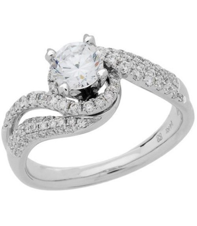 1.22 Carat Round Brilliant Eternitymark Diamond Ring 18Kt White Gold