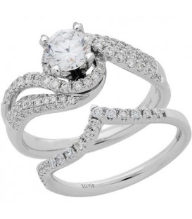 More about 1.47 Carat Eternitymark Diamond Bridal Set 18Kt White Gold