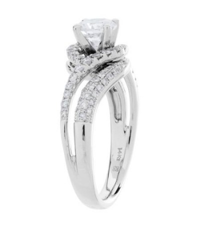 1.47 Carat Eternitymark Diamond Bridal Set 18Kt White Gold