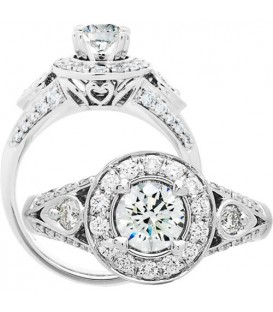 More about 1.01 Carat Round Brilliant Diamond Ring 18Kt White Gold