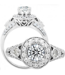 Rings - 1.02 Carat Round Brilliant Eternitymark Diamond Ring 18Kt White Gold