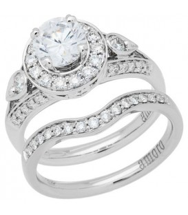 Rings - 1.16 Carat Ideal Eternitymark Center Diamond Bridal Set