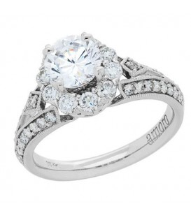 Rings - 1.54 Carat Round Brilliant Diamond Ring 18Kt White Gold
