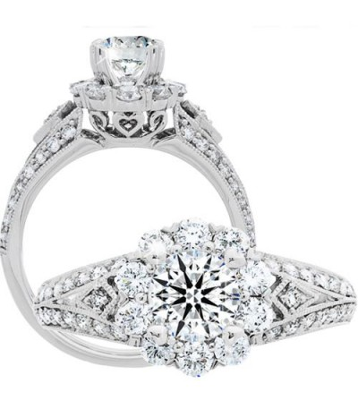 Rings - 1.50 Carat Round Brilliant Eternitymark Diamond Ring 18Kt White Gold