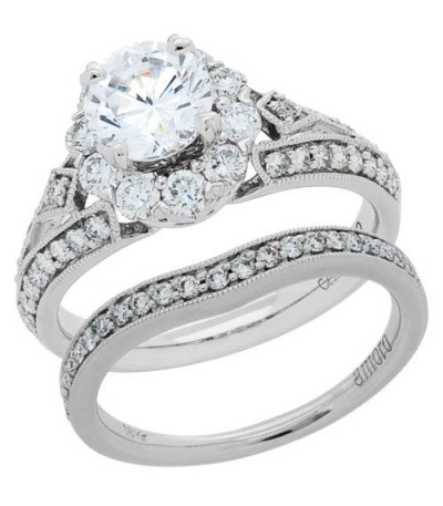 Rings - 1.69 Carat Eternitymark Diamond Bridal Set 18Kt White Gold