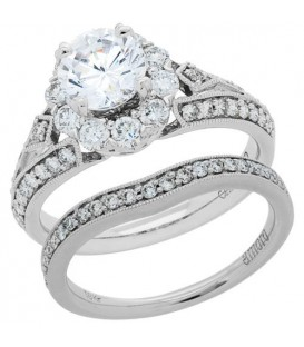 More about 1.69 Carat Eternitymark Diamond Bridal Set 18Kt White Gold