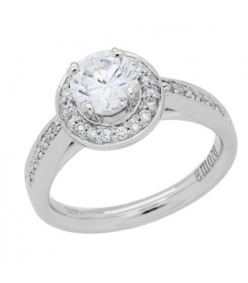 0.76 Carat Round Brilliant Diamond Ring 18Kt White Gold