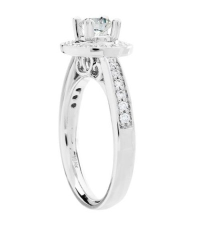 0.77 Carat Round Brilliant Eternitymark Diamond Ring 18Kt White Gold