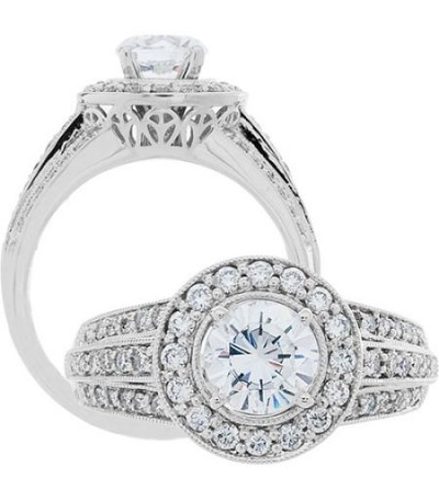Rings - 1.51 Carat Round Brilliant Diamond Ring 18Kt White Gold