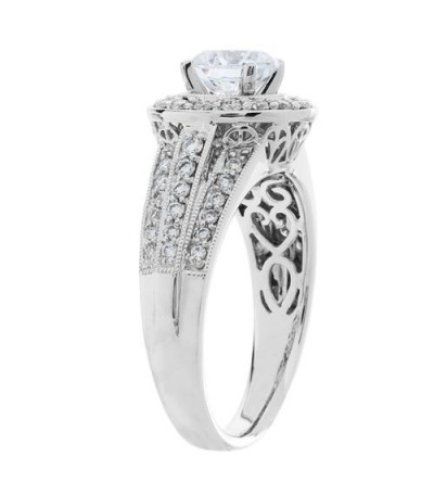 1.51 Carat Round Brilliant Diamond Ring 18Kt White Gold