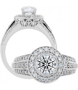 More about 1.51 Carat Round Brilliant Eternitymark Diamond Ring 18Kt White Gold