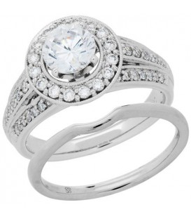 Rings - 1.51 Carat Eternitymark Diamond Bridal Set 18Kt White Gold