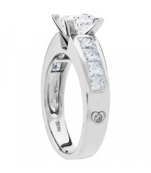 1.91 Carat Princess Cut Diamond Ring 18Kt White Gold
