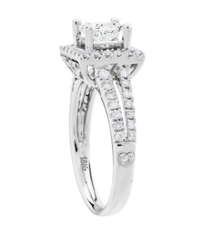 1.22 Carat Princess Cut Eternitymark Diamond Ring 18Kt White Gold